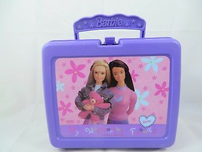 Vintage Barbie Lunch Box 1998 Thermos My Wonderful Friends Purple Plastic Mattel