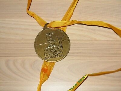 Malta Marathon Medaille Original Teilnehmer Finisher - Top Rar