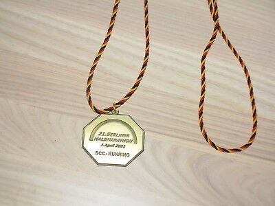 21. Berlin Halb Marathon 2001 Medaille Original Teilnehmer Finisher - Top Rar