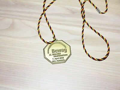 22. Berlin Halb Marathon 2002 Medaille Original Teilnehmer Finisher - Top Rar