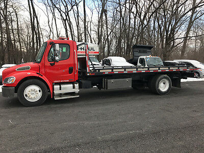 2005 Freightliner M2 Buisness Class Flatbed Tow Truck W/ Wheel Lift Cat Diesel!!