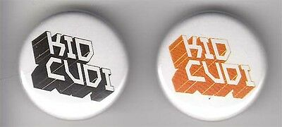 Kid Cudi RARE promo set of 2 buttons / pins