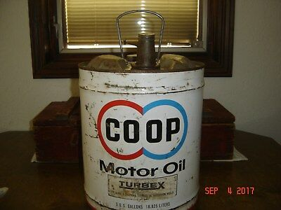 Nice COOP 5 Gallon Oil Can Sign Man Cave Vintage Service Station Gas Sign Petro