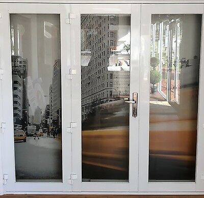 ALUMINIUM BIFOLD DOORS 3 PANEL, NEW 2410 x 2100h, WHITE,  IN STOCK