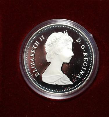 Uncirculated 1987 Silver Canada $1 Dollar Foreign Coin Free S/H