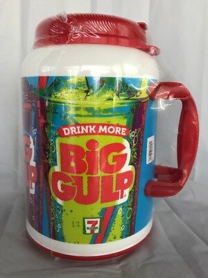 7 Eleven Big Gulp 100 Oz Thermos Travel Whirley New Sealed DRINK MORE NWT