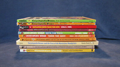 Lot of 10 Encyclopedia Brown Books by Donald Sobol - Free Shipping