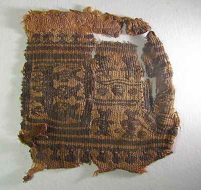 Ancient Egyptian Coptic Textile Fragment  CT1, 4th to 7th Century AD