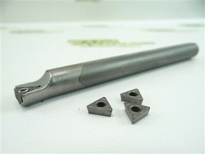 """Stubby Solid Carbide Indexable Boring Bar 1/2"""" Shank Model Cstjor082 + Inserts"""