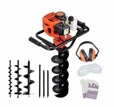 88cc 2 Stroke Pro-Series Petrol Post Hole Digger Earth Auger Drill Plus Kit Set