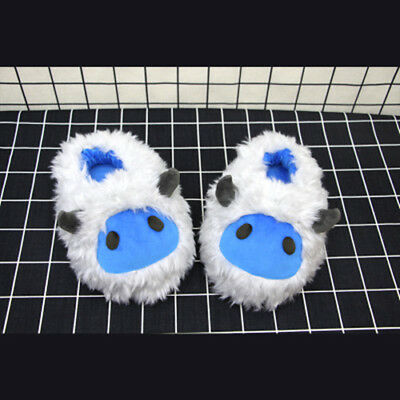 Game Overwatch Mei OW Plush Shoes cute cartoon Warm Cosplay cotton winter Shoes