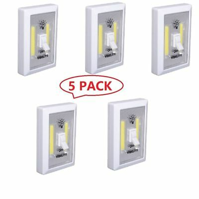 5PCS COB LED Wall Switch Wireless Closet Cordless Night Light Battery Operated