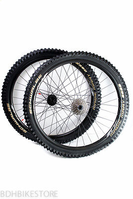 DH Wheelset Jalco DD30 27.5'' rims and DT Swiss 350 hubs w/ Tires and cassette