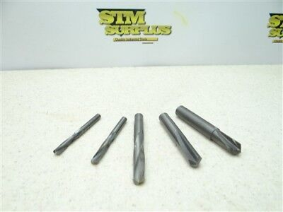 """Lot Of 5 Assorted Solid Carbide Drills 3/16"""" To 25/64"""" Ma Ford"""