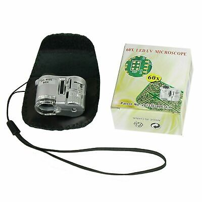 60X Zoom Loupe Microscope LED Fluorescence Jewelry Magnifier
