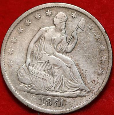 1871-S San Francisco Mint Silver Seated Liberty Half Dollar Free S/H