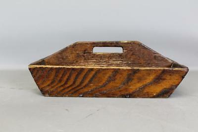A Great Early 19Th C Flame Chestunt Knife Box In Great Original Surface