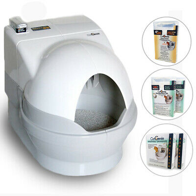 CatGenie Automatic Self-Cleaning Cat Toilet, Deluxe Package With Accessories
