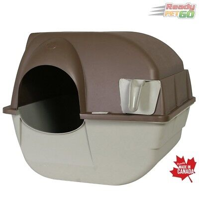 Omega Paw Roll'N Clean Automatic Self Cleaning Cat Litter Box - Regular / Taupe