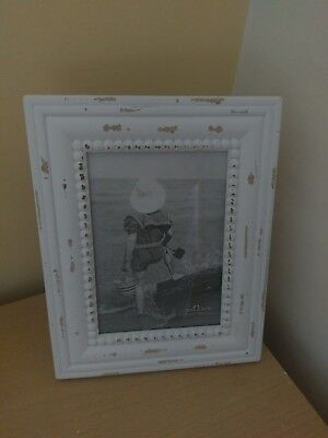 Sass and Belle white photo frame. never used. shabby chic or vintage style