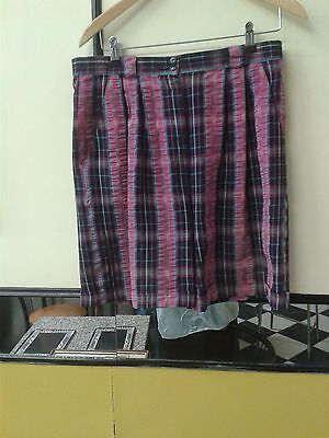 """Pringle Sports Ladies pink and Navy Check Golf Shorts Size 32"""""""