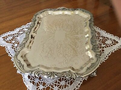Ornate F B Rogers Silver Serving Tray