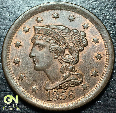 1856 Braided Hair Large Cent --  MAKE US AN OFFER!  #Y6881