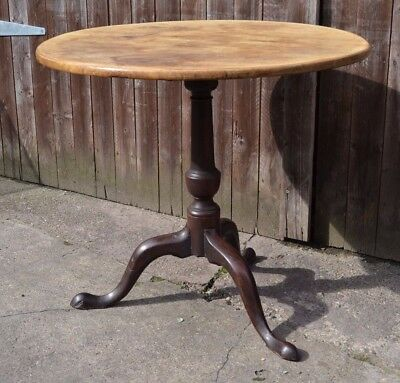 Lovely George III Pedestal Tripod Table Antique Wine Side Table Hall Plant Table