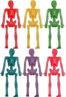 12 Stretchy Skeletons - Pinata Toy Loot/Party Bag Fillers Wedding/Kids Halloween