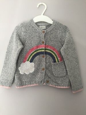 Next Baby Girl Rainbow Knitted Cardigan, 9-12 Months