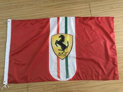 Red Ferrari Car Banner Flag 3X5ft Racing Man Cave Motorsport Advertising F1 Logo