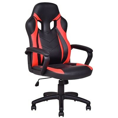 Executive Reclining PU Leather Racing High Back Race Office Chair Gaming Chair