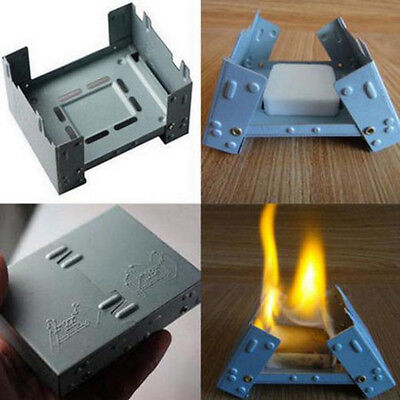 KQ_ Solid Alcohol Fuel Outdoors Camping Folding Portable Pocket Stove Furnace De