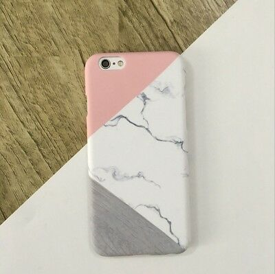 For Apple iPhone Case Granite Marble Contrast Color PC Hard Slim Phone Cover