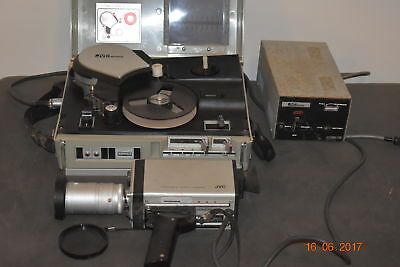 1970's JVC PV-4500 VIDEO TAPE RECORDER & CAMERA & POWER PACK