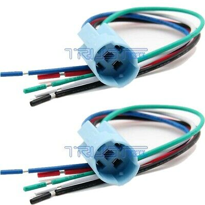 2 Pcs 19mm Pigtail Wire Connector Socket Plug for Push Button Switch