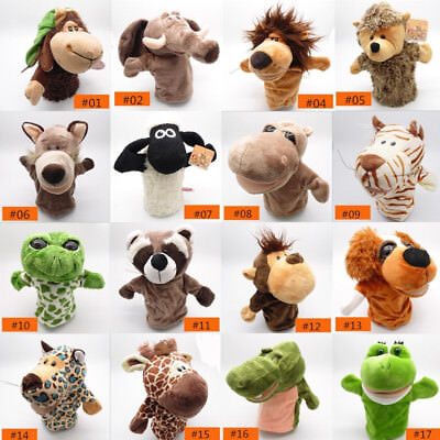 Animal Wildlife Hand Glove Puppet Soft Plush Puppets Childrens Learning Toy Gift