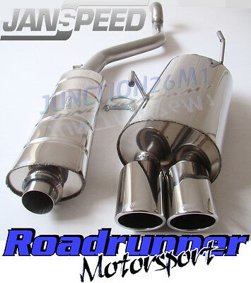 Janspeed Exhaust Peugeot 206 GTI 180bhp Cat Back System Stainless Twin SS506