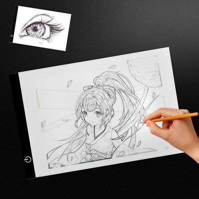A4 Dimmable LED Ultra Slim Artist Stencil Tracing Light Box Drawing Board Pad