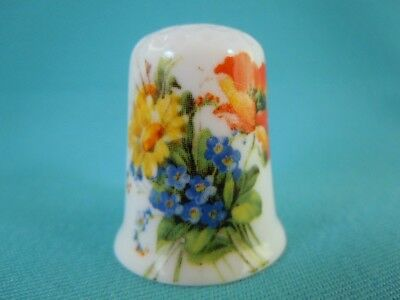 Thimble Bone China with Bouquet of Flowers