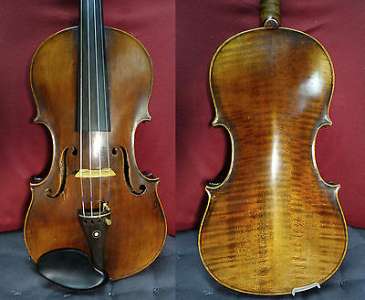 4/4 Nikolaus Amati Copy Violin Old Fine Full Size case bow Watch Video Nice Tone