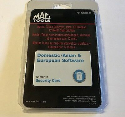 MAC Tools Mentor Touch Security Card 12 Month Software Subscription Update