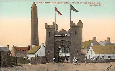 POSTCARD     EXHIBITIONS  1908   Ballymaclinton   Main  Entrance