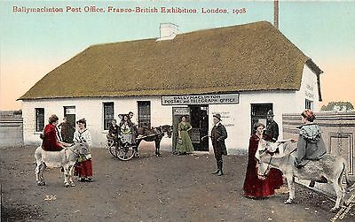 POSTCARD     EXHIBITIONS  1908  Ballymaclinton  Post  Office