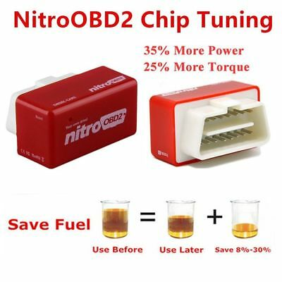 OBD2 Plug&Drive Nitro Performance Chip Tuning interface Box for Diesel Cars #&
