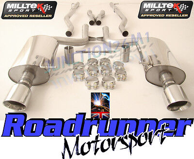 Milltek Audi S4 B6 Cat Back Exhaust System Stainless Non Resonate GT100 SSXAU295