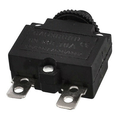 SS AC 125/250V 10A Circuit Breaker Thermal Overload Protector Black