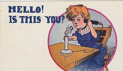 Comic Telephone A. T. F. Co., of Chicago Circa 1905 Postcard Undivided Back.