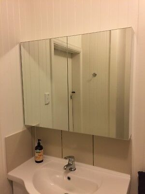 2-Door Mirrored Medicine/Shaving Cabinet