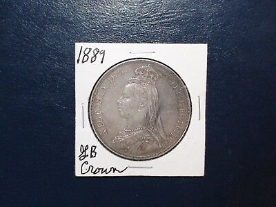 1889 GREAT BRITAIN CROWN SILVER 1C Coin Auction Starts At 99 Cents!